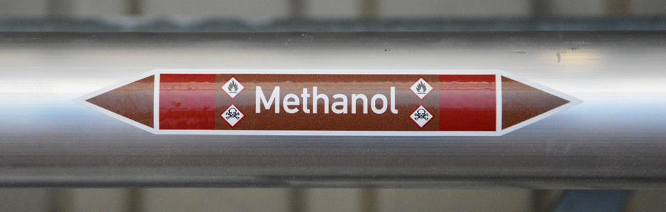 Produkte - Rohrleitungskennzeichnung: brennbare Gase