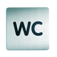 WC-Piktogramm, WC, quadratisch, Edelstahl