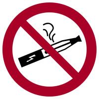 Verbotszeichen, E-Zigarette verboten - praxisbewährt