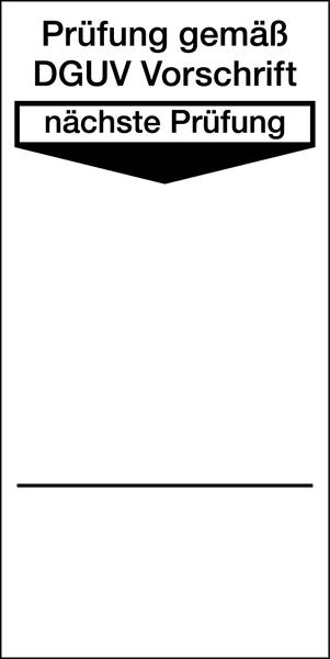 Grundplakette, Prüfung gemäß DGUV Vorschrift - VE = 100 Stk.