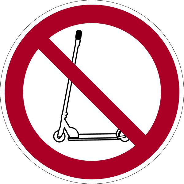 Verbotszeichen, Kickroller verboten - praxisbewährt