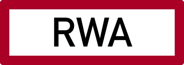 Brandschutzzeichen, RWA (Rauch- und Wärmeabzug) - DIN 4066