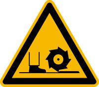 Warnzeichen, Warnung vor Fräswelle D-W022 - ASR A1.3 (DIN 4844)