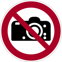 Verbotszeichen, Fotografieren verboten P029 - ASR A1.3 (DIN EN ISO 7010)