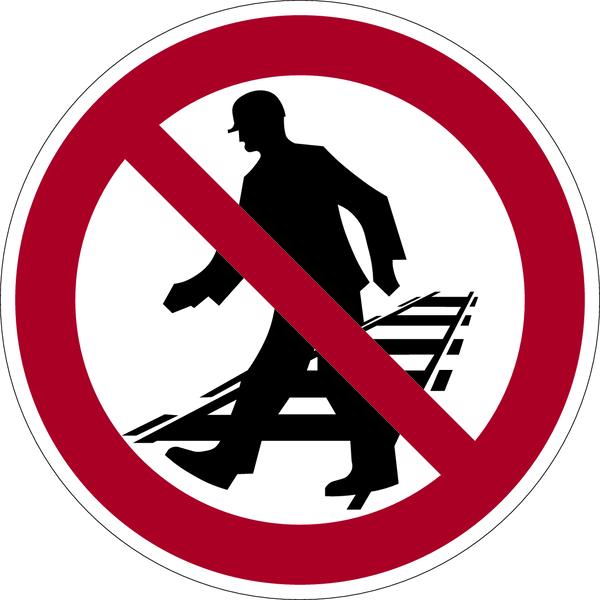 Verbotszeichen, Betreten der Gleisanlagen verboten - praxisbewährt