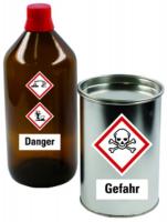 Gefahrstoffkennzeichnung nach GHS - Symbole, <b>Etiketten einzeln</b>
