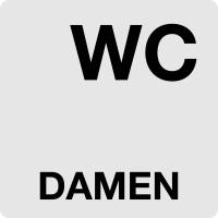 """WC-Schild, """"Damen"""", 60 x 60 mm"""
