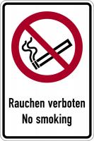 Kombischild, Rauchen verboten No smoking - ASR A1.3 (DIN EN ISO 7010)
