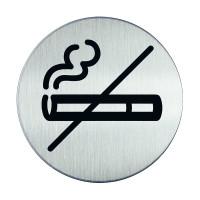 Piktogramm, Rauchverbot, Edelstahl, Ø 83 mm