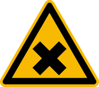 Warnzeichen, Warnung vor gesundheitsschädlichen oder reizenden Stoffen W018 - DIN 4844/BGV A8