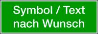 Rettungszeichen, Text/Symbol nach Wunsch