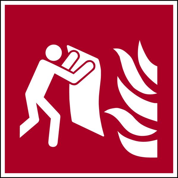 Brandschutzzeichen, Feuerlöschdecke F016 - ASR A1.3 (DIN EN ISO 7010)