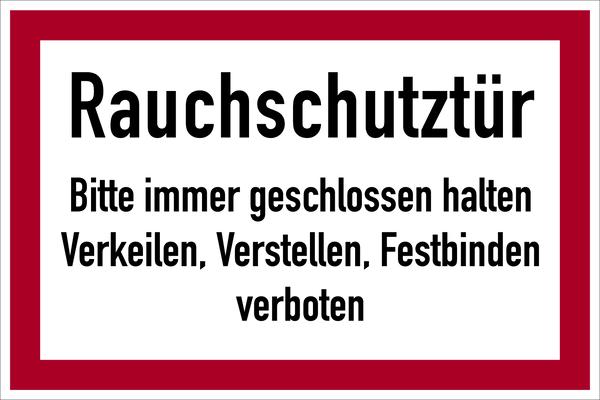 Brandschutzzeichen, Rauchschutztür - angelehnt an DIN 4066