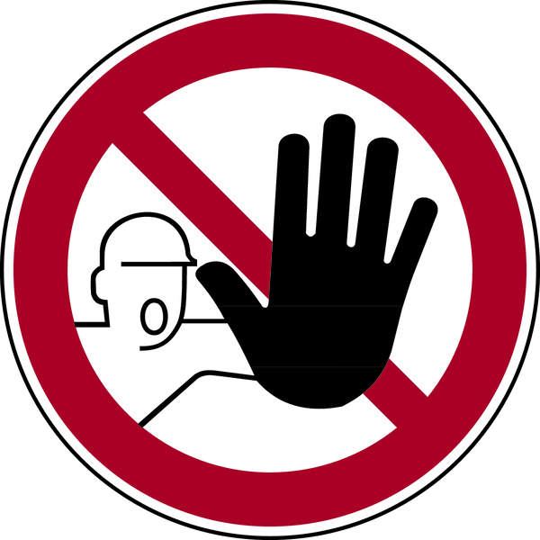 Verbotszeichen, Zutritt für Unbefugte verboten D-P006 - ASR A1.3 (DIN 4844-2)