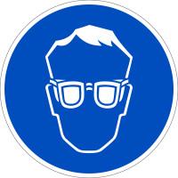 Gebotszeichen, Augenschutz benutzen D-M001 - DIN 4844/BGV A8