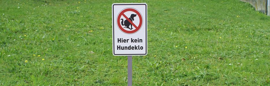 Produkte - Hinweisschilder, Hund und Herrchen