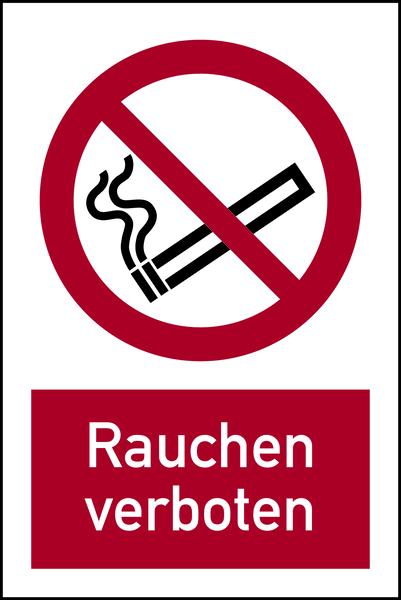 Kombischild, Rauchen verboten - ASR A1.3 (DIN EN ISO 7010)