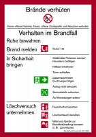 Aushang, Brandschutzordnung Teil A gem. DIN 14096 - Gebäude ohne Brandmeldeanlage