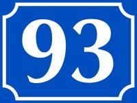 Hausnummer, Aluminium geprägt, zweistellig (Nr. 10-99), blau/weiß, 120 x 160 mm