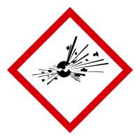 GHS Gefahrensymbol 01: Explodierende Bombe