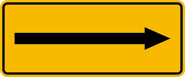Betriebsbeschilderung Richtungsangabe Gashinweisschilder