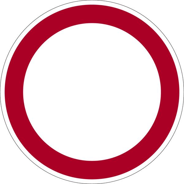 Allgemeines Verbotszeichen