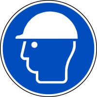 Gebotsschild, Kopfschutz benutzen M014 - ASR A1.3 (DIN EN ISO 7010)