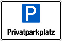 Parkplatzschild, Privatparkplatz, 200x300mm, Aluverbund