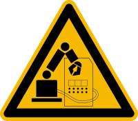Warnschild, Warnung vor Gefahren im Greifraum - praxisbewährt