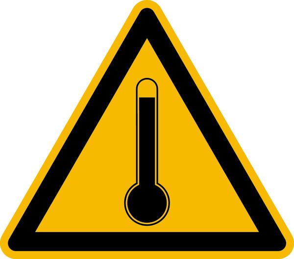 Warnzeichen Warnung vor hoher Temperatur