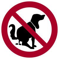 Verbotsschild, Hier kein Hundeklo - praxisbewährt