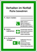 Aushang, Verhalten im Notfall - ISO 7010
