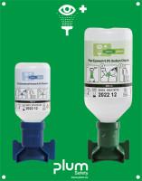 Augenspülstation, 500 ml Natriumchloridlösung + 200 ml Phosphatpufferlösung