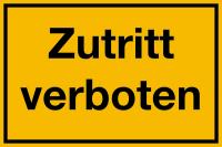Hinweisschild, Zutritt verboten, 200x300mm, Kunststoff