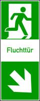 Rettungszeichen, Fluchttür (Klinke rechts)