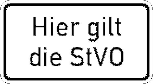 Verkehrszusatzzeichen nach StVO