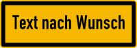 Hinweisschild, Text nach Wunsch, Schwarz/Gelb, 74 x 210 mm