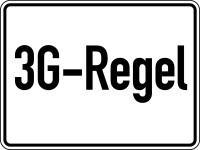 Hinweisschild, 3G-Regel, 150 x 200 mm, Folie