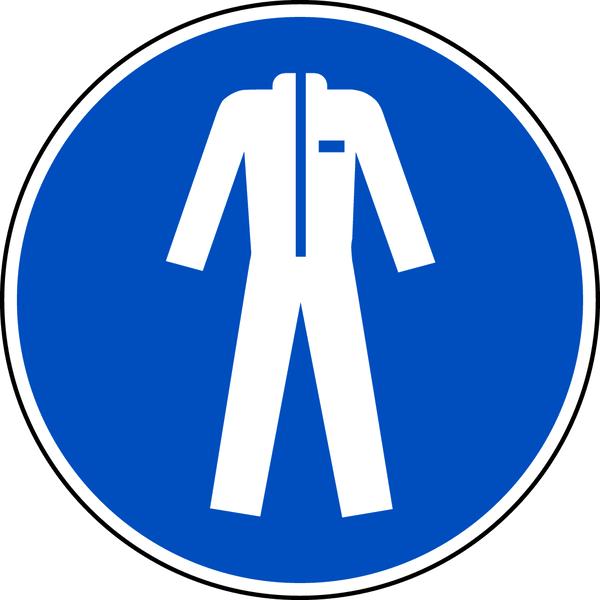 Gebotszeichen, Schutzkleidung benutzen M010 - ASR A1.3 (DIN EN ISO 7010)