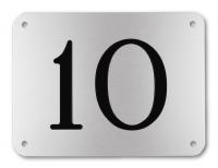 Hausnummernschild, Aluminium graviert