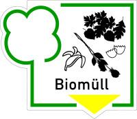 Abfallkennzeichen, Biomüll, Folie