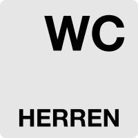 """WC-Schild, """"Herren"""", 60 x 60 mm"""
