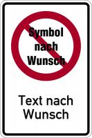 Kombischild selbst gestalten - Text & Symbol nach Wunsch