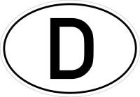 D-Aufkleber, Folie selbstklebend