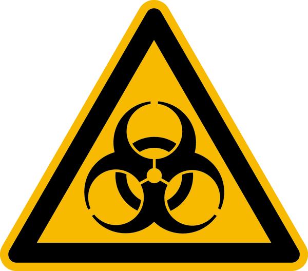 Warnzeichen, Warnung vor Biogefährdung W009 - ASR A1.3 (DIN EN ISO 7010)