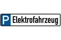 Parkplatzkennzeichen, P-Elektrofahrzeug, 113x523mm, Alu geprägt