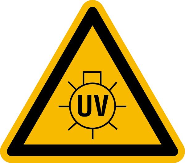 Warnzeichen Warnung vor UV-Strahlung