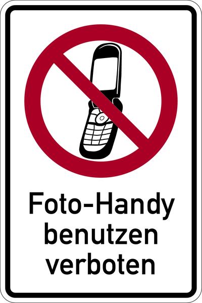 Kombischild, Foto-Handy verboten - praxisbewährt