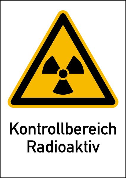 Warnschild Strahlenschutz Kontrollbereich Radioaktiv (WS 110)