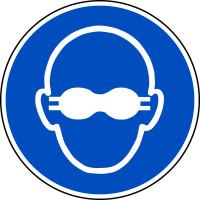 Gebotsschild, Weitgehend lichtundurchlässigen Augenschutz benutzen M007 - ASR A1.3 (DIN EN ISO 7010)